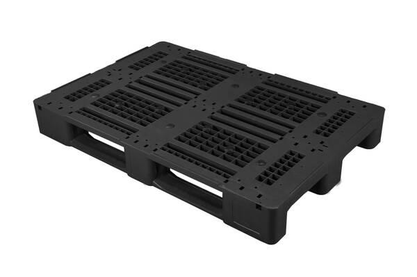 Universal Palette 1200x800 mm aus HDPE-RE Kunststoff anthrazit