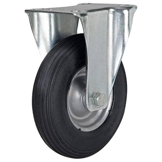 Bockrolle 225 mm Luftrad mit Stahlfelge