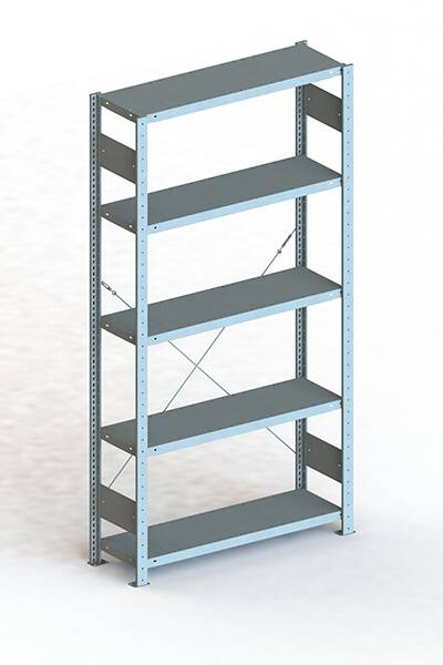 Steckregal 2000x1000x500 mm verzinkt Fachlast 230 Kg