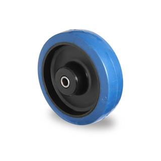 Einbaurad 125 mm Elastik Blue Wheels