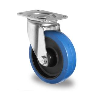 Lenkrolle 80 mm Elastik Blue Wheels