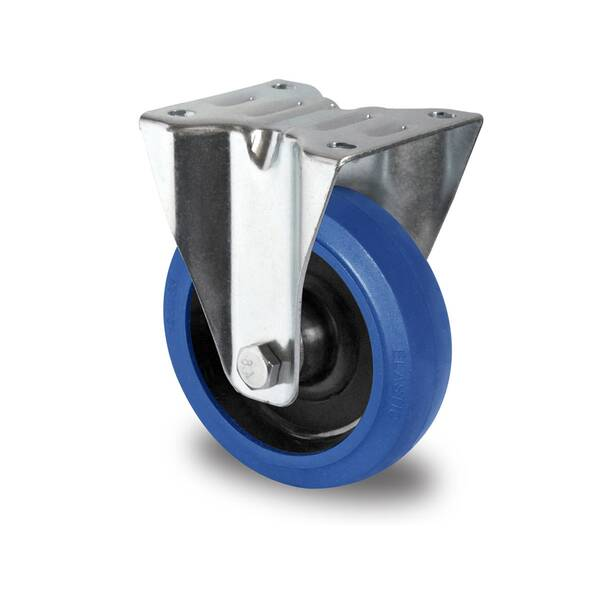 Bockrolle 80 mm Elastik Blue Wheels