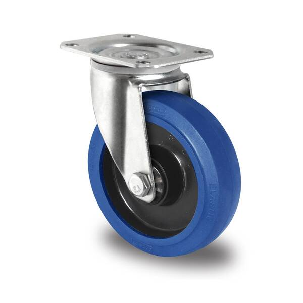 Lenkrolle 100 mm Elastik Blue Wheels