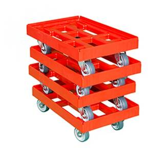 Transportroller 610x410 mm rot 4er Pack